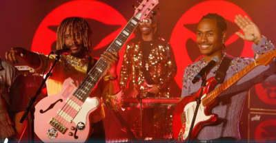 """Thundercat joined by Steve Lacy, Steve Arrington for """"Black Qualls"""" Kimmel performance"""