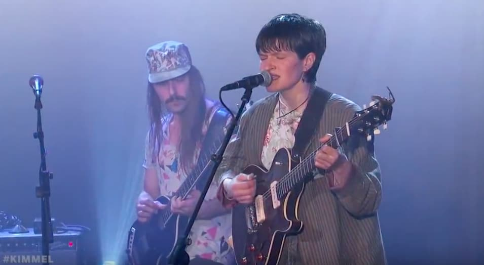 "Watch Big Thief tear through ""Shoulders"" on Jimmy Kimmel Live"