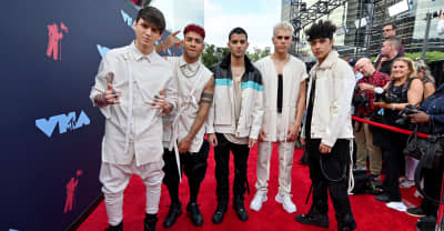 "Here's CNCO performing ""De Cero"" on the red carpet at the VMAs"