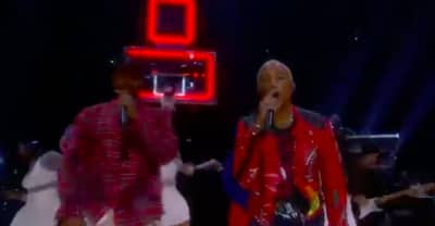 Watch N.E.R.D. and Migos perform at the NBA All Star halftime show