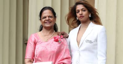 M.I.A. accepts MBE award from Prince William