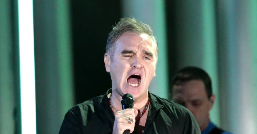 """Morrissey says a protester at a recent show was """"paid for and planted in the crowd by the British press"""""""