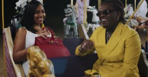 "Gunna and Jordyn Woods enjoy a circus in the ""Baby Birkin"" video"
