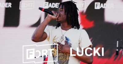"Watch Lucki bring ""More Than Ever"" to The FADER FORT"