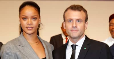 Rihanna attends the Global Partnership for Education Conference