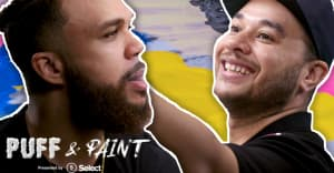 Jidenna and Shaun Crawford make high art in the first episode of Puff & Paint
