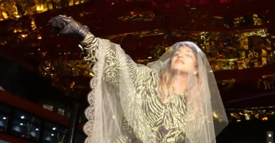 Watch M.I.A. perform at a Julian Assange protest
