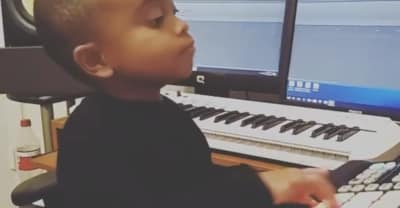 Watch This Baby Make A Fire Beat On A Sampler