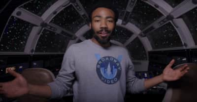 Watch Donald Glover give a tour of the Millennium Falcon
