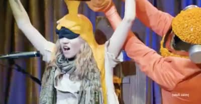 "Watch Grimes get tortured, ""cheeseboarded"" on The Eric Andre Show"