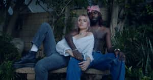 """Lolo Zouaï and Blood Orange shimmer in the """"Jade"""" music video"""