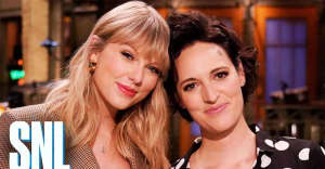 Taylor Swift attempts British slang in a new SNL promo with Phoebe Waller-Bridge