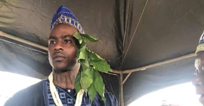 Skepta made a chief in his parent's town in Nigeria
