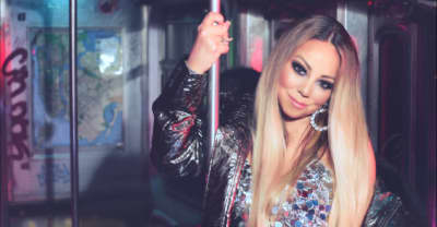 "Mariah Carey throws a party on the subway in her ""A No No"" video"