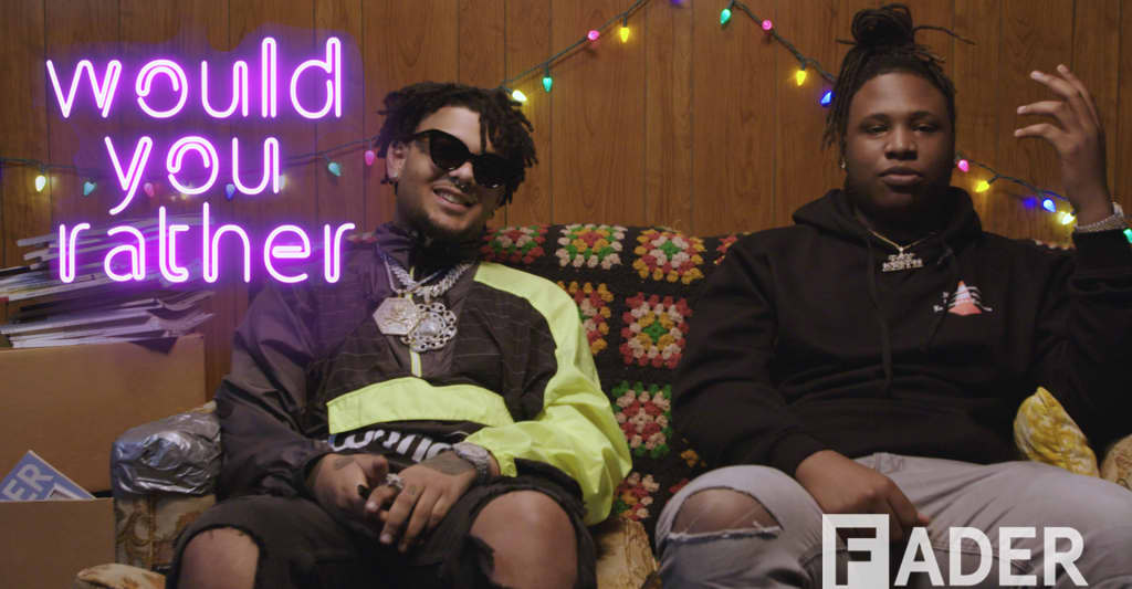 Smokepurpp and Tay Keith use time travel to secure the bag in Would You Rather