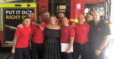 Adele Met With London Firefighters Who Fought The Grenfell Tower Blaze