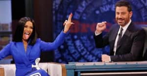 Watch Cardi B talk fame, pregnancy, and New York's rat problem with Jimmy Kimmel