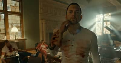 "Eminem is paranoid and on the run in his ""Framed"" video"