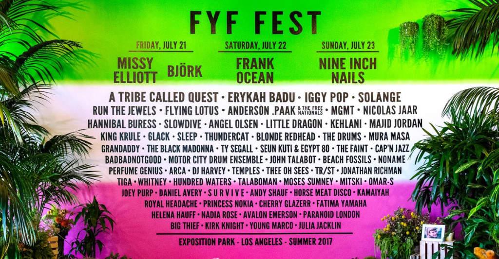 Frank Ocean, Missy Elliott, Björk, And Nine Inch Nails To Headline FYF Fest 2017