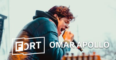 Watch Omar Apollo dance his way through an upbeat FADER FORT set