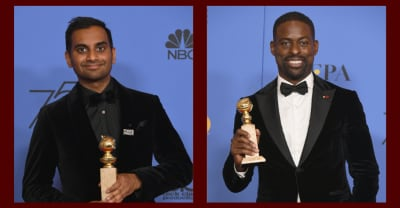 Aziz Ansari and Sterling K. Brown both made history at the Golden Globes