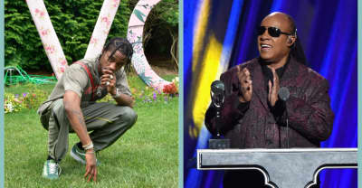 Travis Scott posts photo hinting at a collaboration with Stevie Wonder
