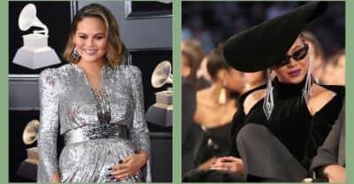 Chrissy Teigen kneeled to Beyoncé at the Grammys