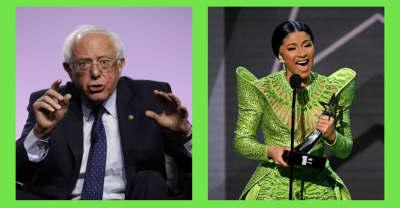"""Bernie Sanders praises Cardi B as being """"really smart, deeply concerned"""""""