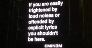 Eminem doesn't care if he frightens fans with loud noises