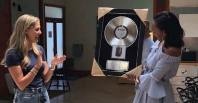 Frank Ocean's mom collected his platinum plaque for Blonde