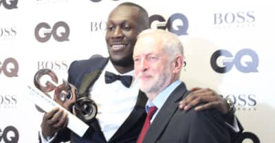 Jeremy Corbyn Presented Stormzy With Solo Artist Of The Year At GQ Awards