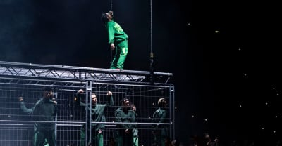 A$AP Rocky performed inside a cage on his return to Sweden