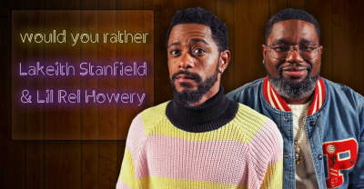 Lakeith Stanfield and Lil Rel Howery want to die laughing with Kanye West