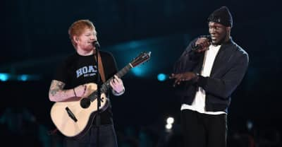 Watch Stormzy Join Ed Sheeran On Stage At The BRIT Awards