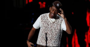 """Watch Tyler, The Creator thank Theresa May at the 2020 Brit Awards: """"I know she's sitting at home pissed off"""""""