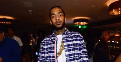 Kanye West honored Nipsey Hussle at this week's Sunday Service