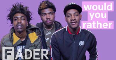 "SOB X RBE replace the national anthem with Keak Da Sneak's ""That Go,"" resurrect Tupac, and more in Would You Rather"