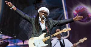 Nile Rodgers broke his nose in an accident at his studio