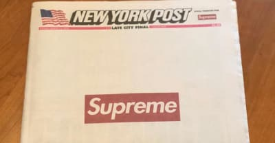 Today's New York Post is Supreme-branded