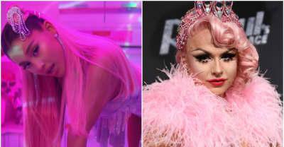 "Ariana Grande accused of copying ""7 rings"" look from Drag Race star"