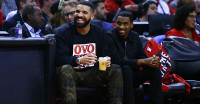 "Drake tempts fate, jokes about his ""curse"" after Raptors advance in playoffs"