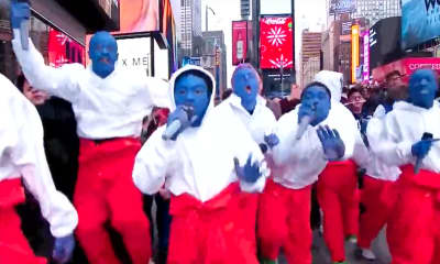 "Watch BROCKHAMPTON take over Times Square on ""TRL"""
