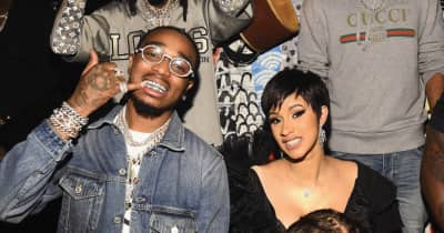 Cardi B previewed a new song at a VMAs afterparty last night