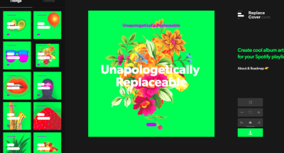 This site lets you create cool ass artwork for your Spotify playlists