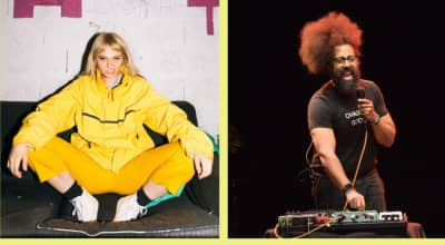 Reggie Watts remixed a Cherry Glazerr song