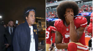 "Roc Nation issued a recursive denial of reports that a disappointed Jay-Z called Colin Kaepernick's workout a ""publicity stunt"""