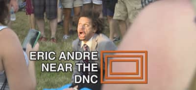 Watch Eric Andre Make Out With A Hillary Clinton Impersonator Outside The DNC