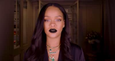 Watch Rihanna slay in this new Halloween goth make up tutorial