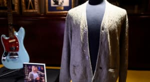 Kurt Cobain's MTV Unplugged cardigan sold for $334,000