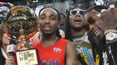 Quavo is crowned MVP at 2018 NBA All-Star Celebrity Game